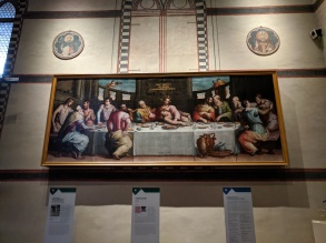Another painting of The Last Supper, not the famous one by Da Vinci - so rare to see any other painting of the subject matter