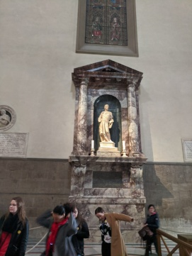 Some of the artwork of the Basilica di Santa Croce, the burial place of Michaelangelo, Galileo, Machiavelli and others