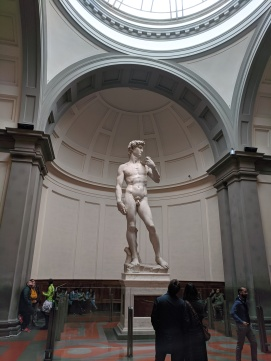 Michaelangelo's David, at 5.17 meters tall, it was much bigger than I ever imagined.