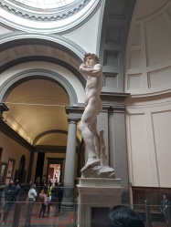 It was weird to view Michaelangelo's David from angles not normally photographed